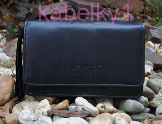 e9a071b0b6 Pánská černá matná kožená příruční taška etue
