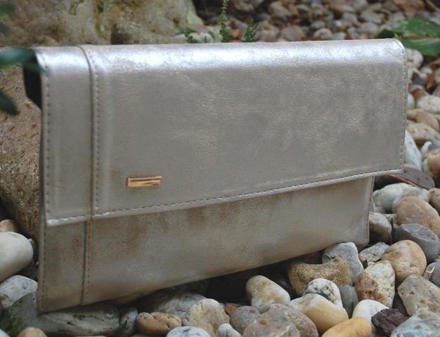 99ffcdf549 Psaníčko zlatá stříbrná kabelka listová se stříbřitým leskem empty