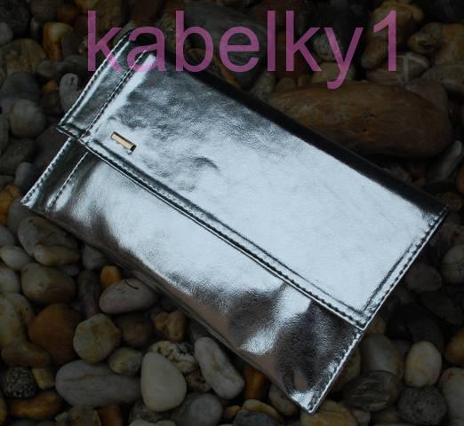 0e29767531 Kabelka stříbrná listová metalická dlouhé ramínko